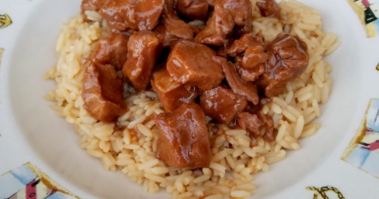 Beef Tips with Riceland Rice
