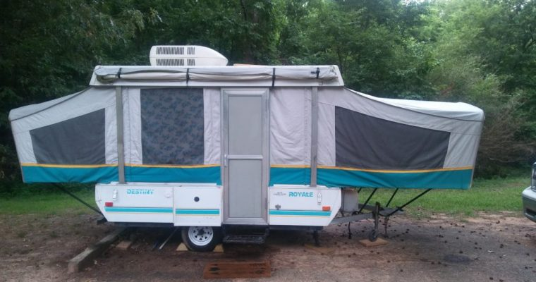 Meet Blue Rose the Pop Up Camper