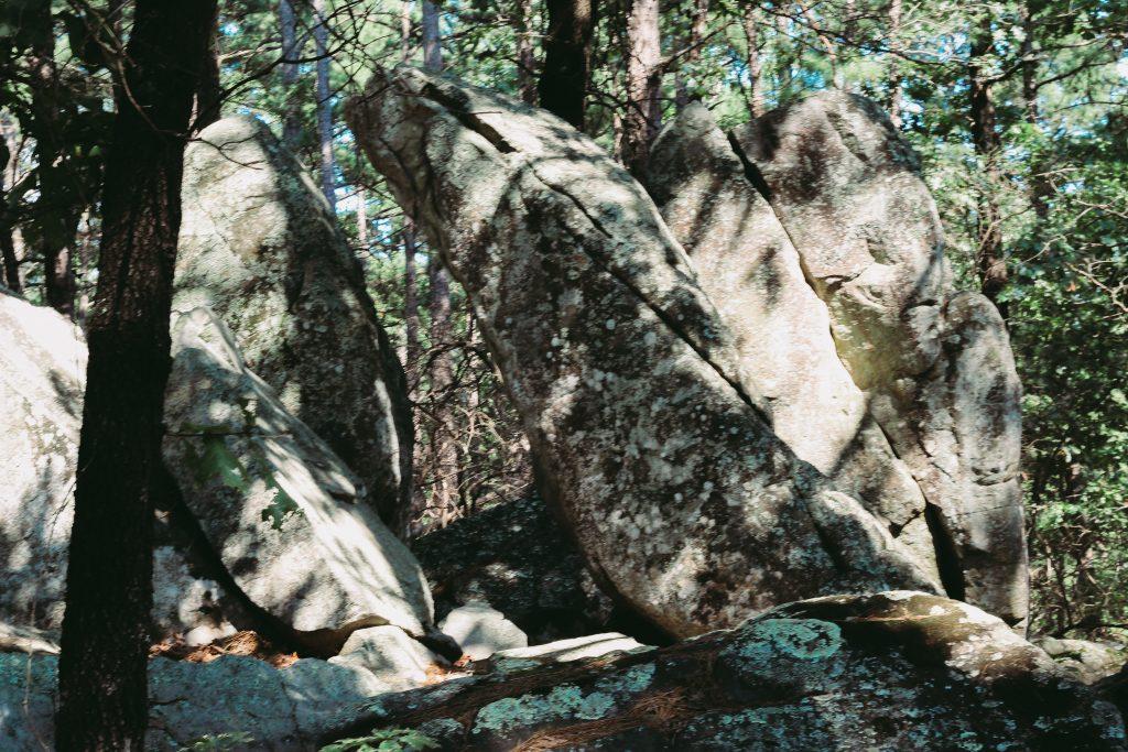 Rocks with a door way