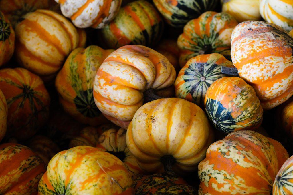 Small striped pumpkins