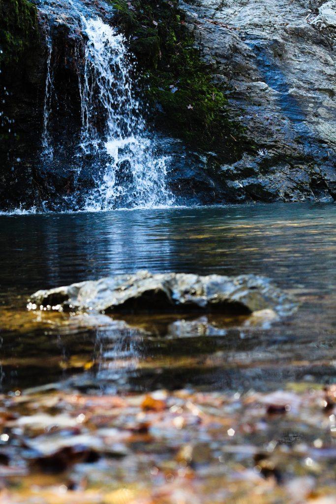 Water fall at Lake Catherine