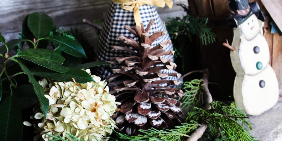 natural winter decor