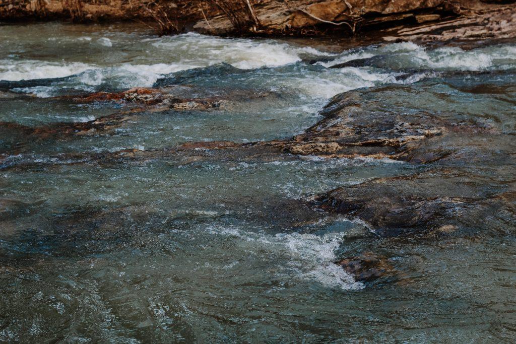 Sugar Creek one rock
